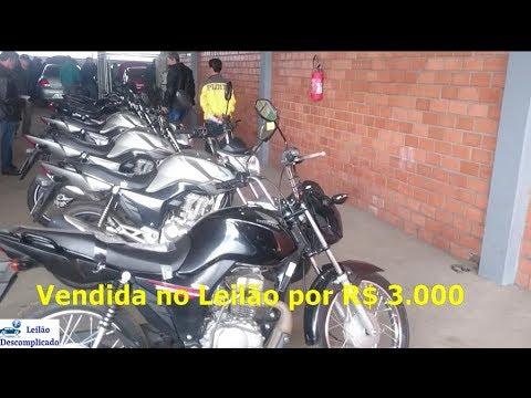 LEILÃO DE MOTOS, Honda Biz, Cg Fan 160 Yamaha Fazer 125! Motos mais baratas e boas para revenda.