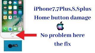 iPhone 7,7plus,8,8plus home button damage no problem here the fix.