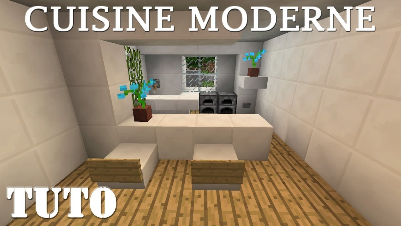 minecraft comment faire une cuisine moderne ps4 youtube. Black Bedroom Furniture Sets. Home Design Ideas