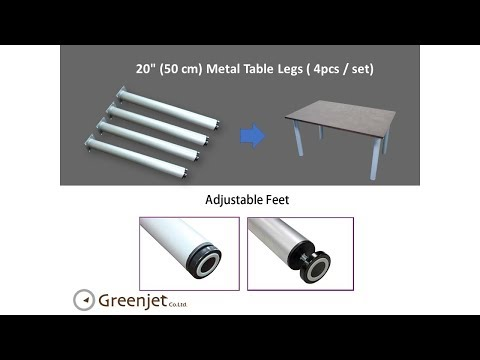 Greenjet 20inch Round Metal Table Legs