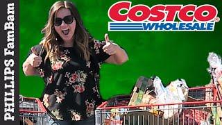 MASSIVE COSTCO GROCERY HAUL | $350 BUDGET | PHILLIPS FamBam Grocery Hauls