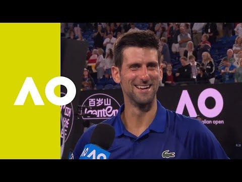 Novak Djokovic on-court interview (4R) | Australian Open 2019