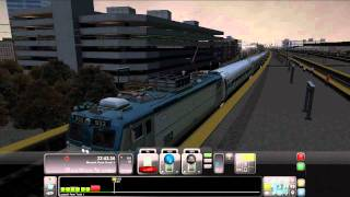 Railworks 3 Train Simulator 2012 - Amtrak Pulling Into Newark Northeast Corridor