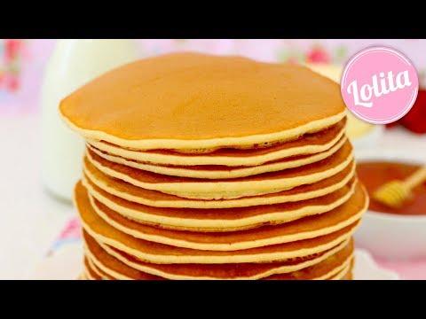 Receta de tortitas americanas fáciles y espojosas / Pancakes