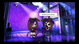 Purple girl meet purple guy