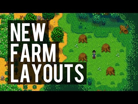 Stardew Valley - 5 Available Farm Layouts in Update 1.1