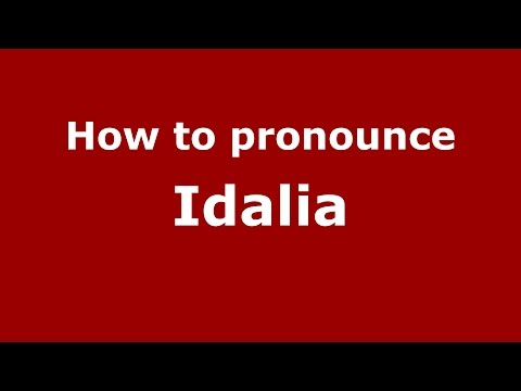 How to pronounce Idalia (Spanish/Argentina) - PronounceNames.com