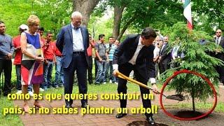 """En Canadá se burlan de Peña Nieto por """"NO SABER"""" Plantar un árbol"""
