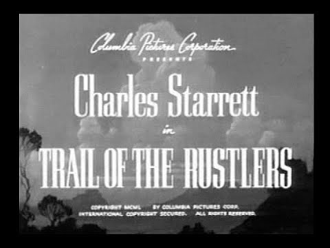 The Durango Kid  Trail Of The Rustlers  Charles Starrett, Gail Davis, Smiley Burnette