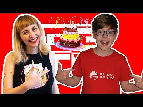 DELIVERING A BIRTHDAY CAKE TO ETHAN GAMERS ROBLOX PARTY