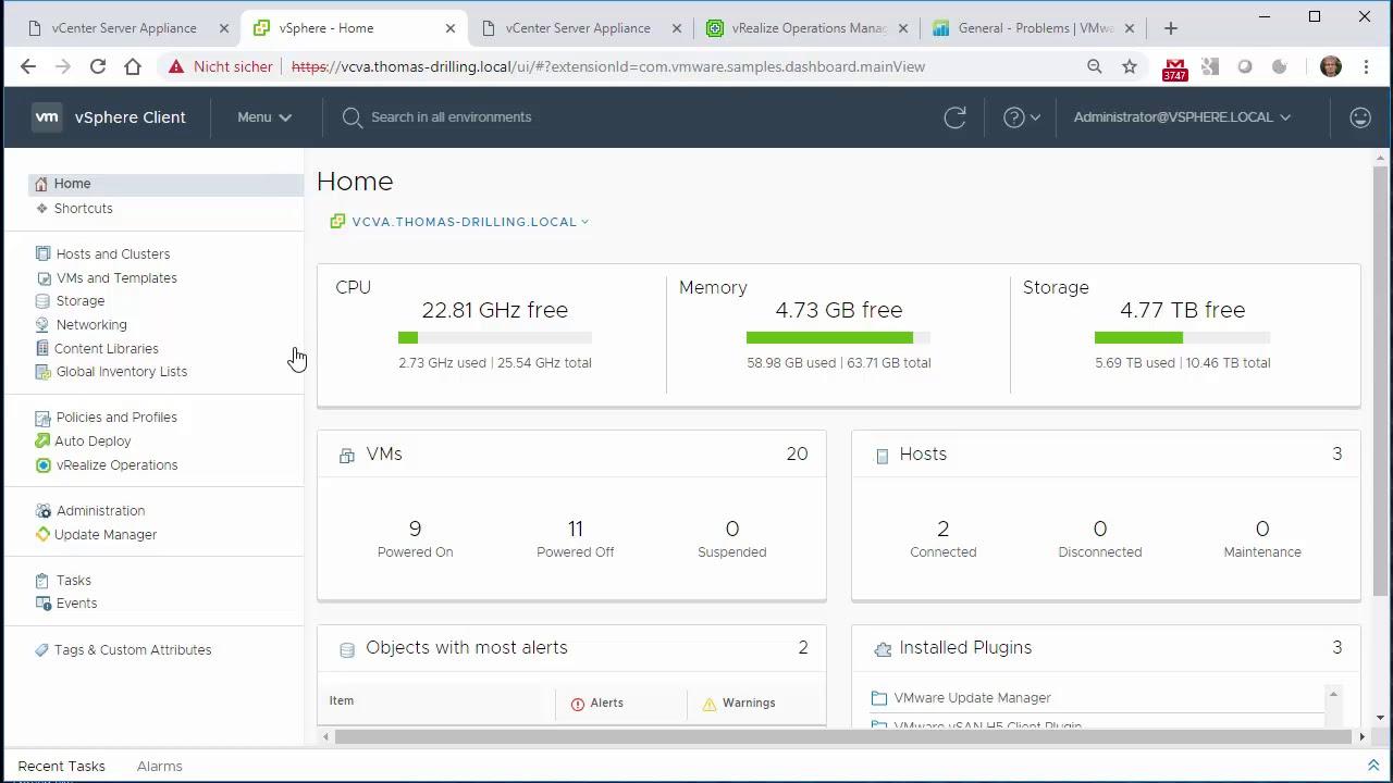 Esxi Home Lab 2020.Videoworkshop Datacenter Insider Vmware Vsphere 6 7 Update 1 Vsphere Client Und Content Libraries