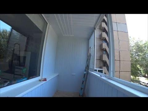 Балкон на прокачку самая дешевая отделка! Сушилка для белья лиана.Отделка своими руками!