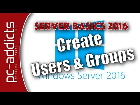 Create AD Users and Groups - Server Basics 2016 #05