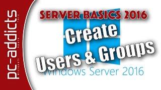 Erstellen Sie AD-Benutzer und Gruppen - Server-Grundlagen 2016 #05