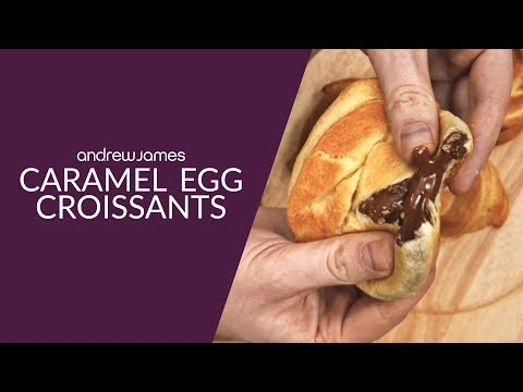 Caramel Egg Croissants by Andrew James