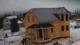 Каркасно-щитовой дом с эркером 7х9