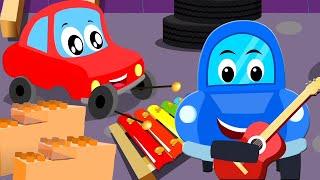 Даваи те строить детская песня детский сад Little Red Car Russia мультфильмы