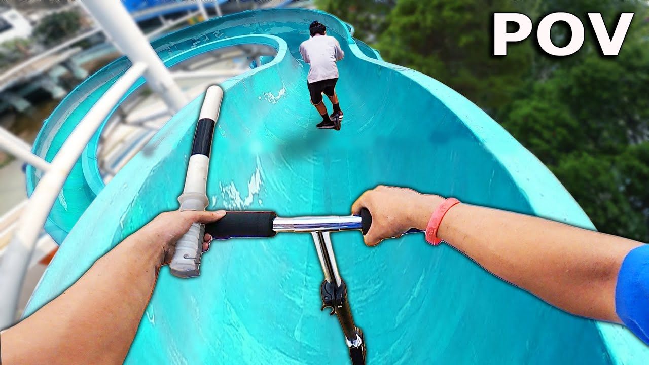 SECURITY PARKOUR vs THIEF In ABANDONED WATER PARK ( Epic Action POV Chase ) || BẮT KẺ ĐỘT NHẬP