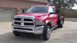 hd video 2016 dodge ram 4500 cab chassis 4x4 flat bed cummins diesel used for sale see www sunsetmot