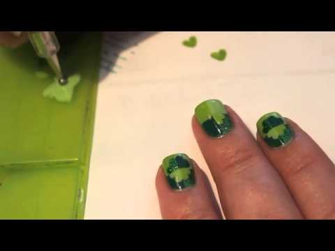 Four Leaf Clover Nail Art Tutorial Youtube
