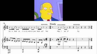 Steamed Hams but it's Sheet Music of the Piano Dub