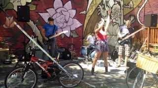 Jessica Speziale Performing at Pedestrian Sundays