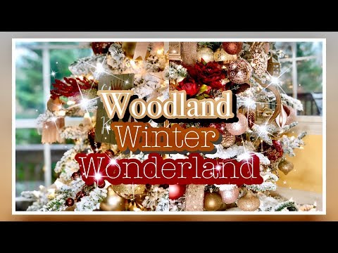 How to Decorate Woodland Winter Wonderland | Rustic Glam Christmas Decor | Day 14