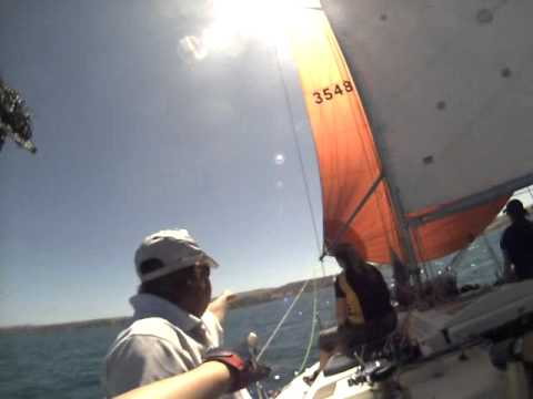 Sailing on Speakeasy Farr 1104  in Port Lincoln harbour PLYC race 14.12.13