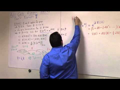 Matrix Lie Groups: March 21, on the derivative of a homomorphism