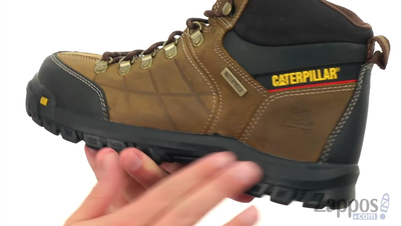5dbabb1be02d Caterpillar Threshold Waterproof Steel Toe SKU: 8960697 - YouTube
