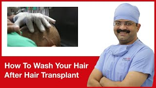 How To Wash Your Hair After Hair Transplant | HairMD, Pune | (In HINDI)