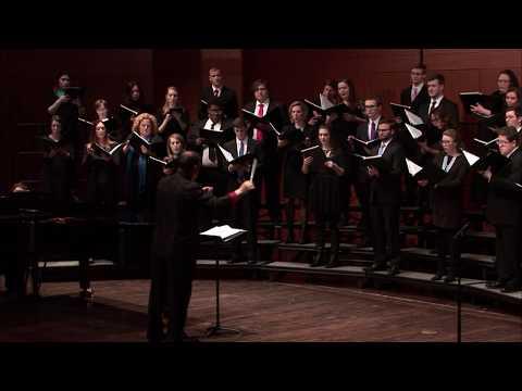 MSU University Chorale | Spanisches Liederspiel, Op. 74 I. Erste Begegnung by Schumann  | 4.1.2017