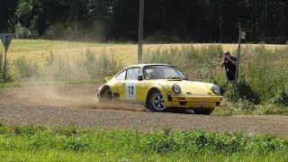 Porsche Rally cars on gravel