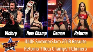 WWE Summerslam 2018 Matches Results | Predictions