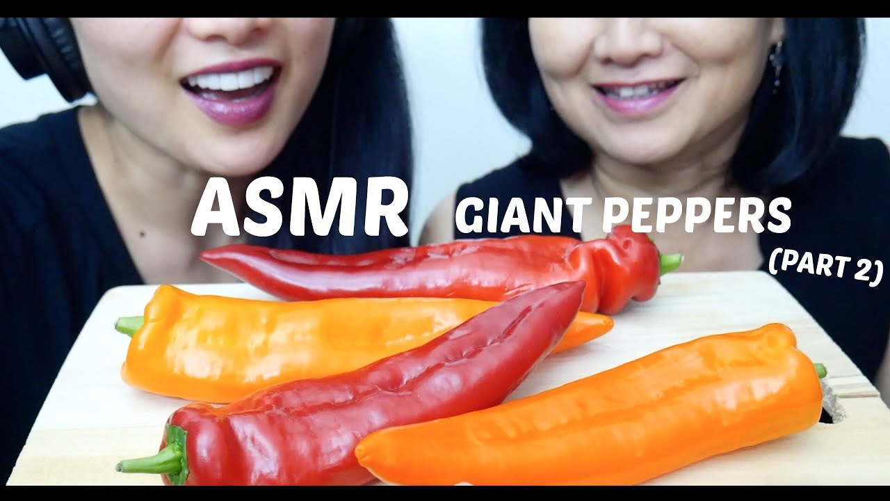 Asmr Giant Sweet Peppers Part 2 Extreme Crispy Crunchy Eating Sounds No Talking Sas Asmr