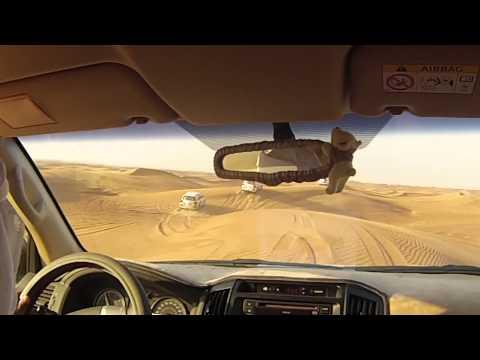 Desert safari outside Dubai Toyota landcruiser