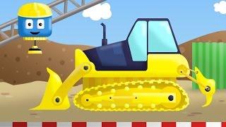 Bulldozer - Tom & Matt the Construction Trucks| Construction Cartoons in 3D for kids