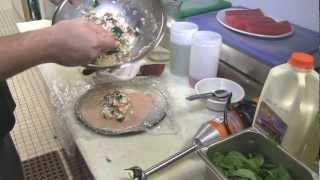 Chef Jesse Matz Prepares Chicken Roulade And Sicilian Salad W/tuna Carpaccio & Red Wine Vinaigrette