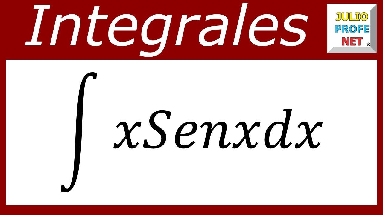 INTEGRACIÓN POR PARTES - Ejercicio 3