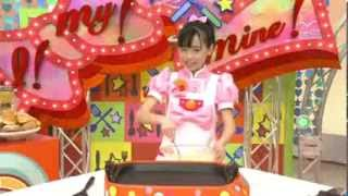 Cute Japanese girl instructs how to make pancake sandwich まいんちゃん 検索動画 9