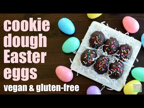 cookie dough Easter eggs (vegan & gluten-free) Something Vegan