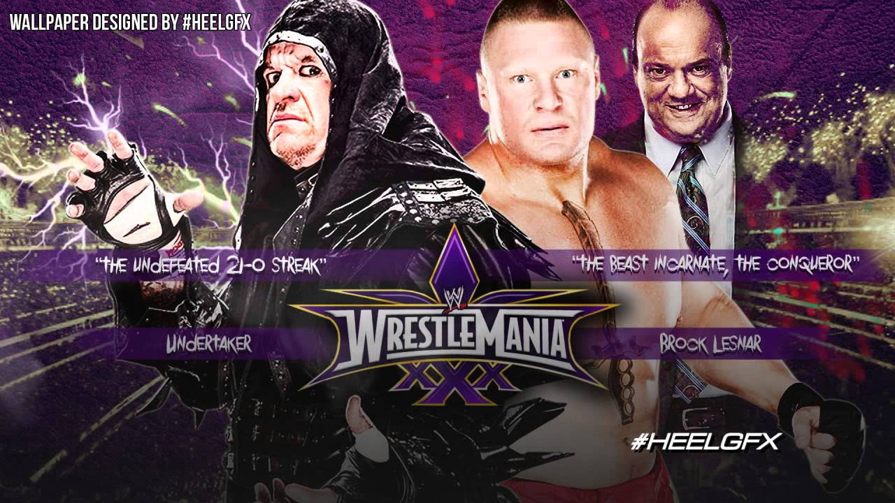 2014: undertaker vs. Brock lesnar wwe wrestlemania 30 theme song.