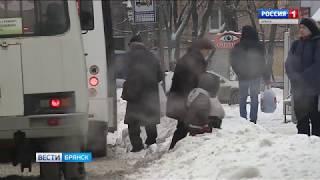Брянск завалило снегом