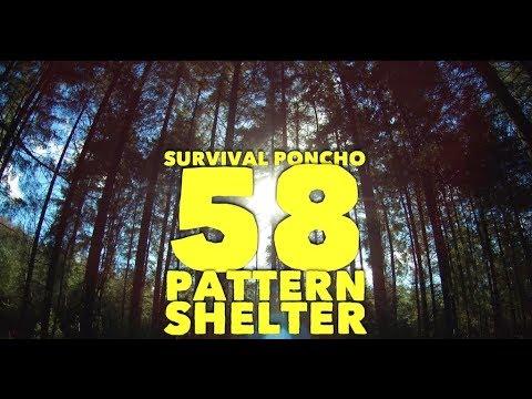 Survival Ponch 58 Pattern Shelter