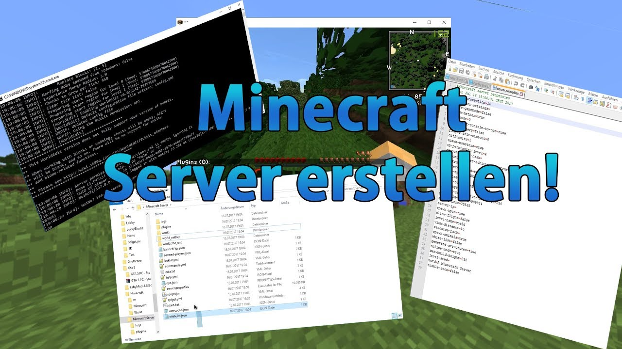 Minecraft Server Erstellen Und Einstellen X Eigenes - Minecraft 1 8 x server erstellen