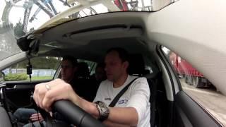 Paris-Nice 2017 - Caméra embarquée dans la voiture de F. Guesdon et S. Joly sur la 5e étape