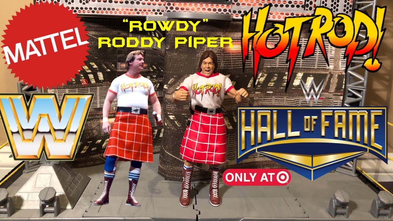 WWE Hall of Fame Elite Collection 6 Exclusive Rowdy Roddy Piper Figure