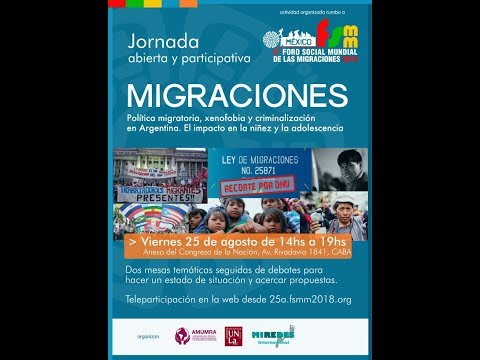 Jornada Migraciones - Buenos Aires - 25 de agosto 2017 14hs GMT-3