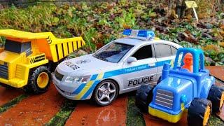 Мультики про машинки Синий трактор самосвал и полицейская машина Машинки Детские мультики