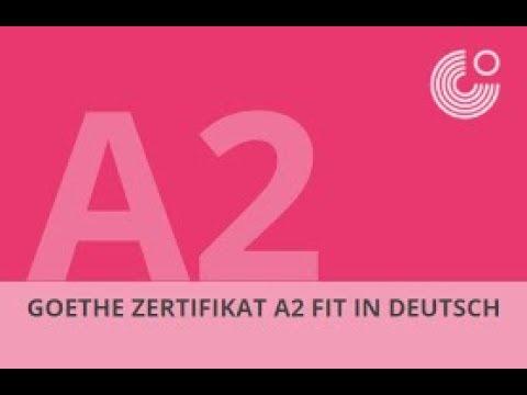 Goethe Zertifikat A2 Sprechen Goethe Institut Youtube